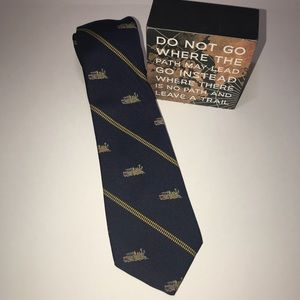 Prince Consort Smithsonian Train Print Men's Tie
